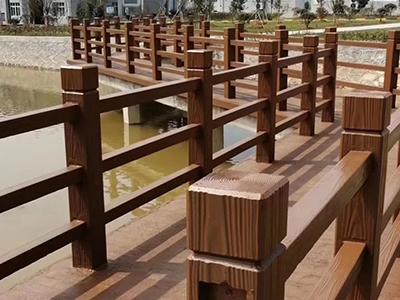 平凉仿木护栏施工-西宁仿木栏杆-西宁仿木栏杆厂家