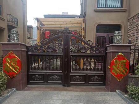 铝艺大门生产-江苏铝合金庭院门-福建铝合金庭院门