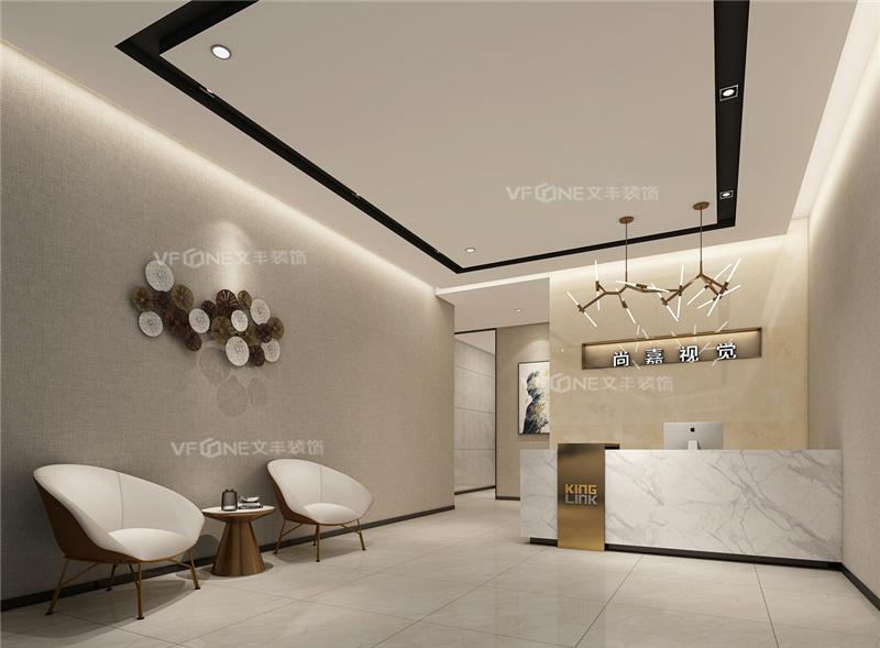 2020新中式办公室效果图_前海办公室装修公司-文丰装饰公司