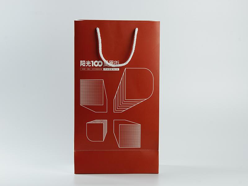 廠家自營通用方底手提袋禮品袋可定制LOGO