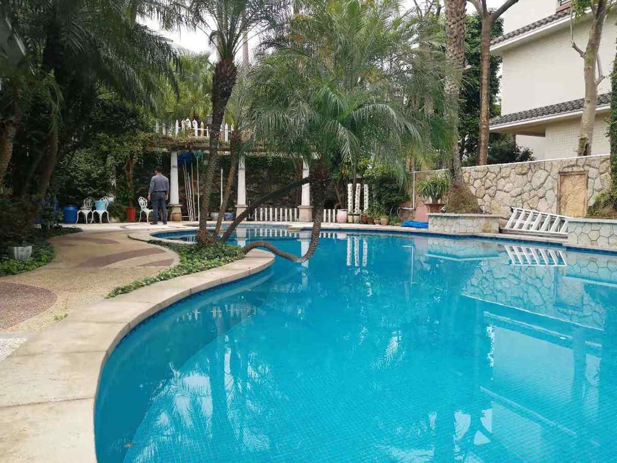 泳池的设计-屋顶花园园林设计-露台花园设计平面图