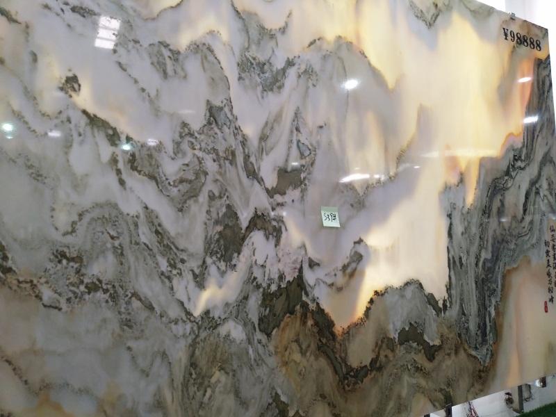 山水画背景墙图片-质量好的大理石石材幕墙火热供应中