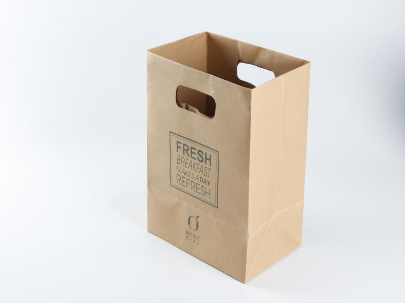 廠家直銷牛皮紙袋外賣打包袋可定制logo