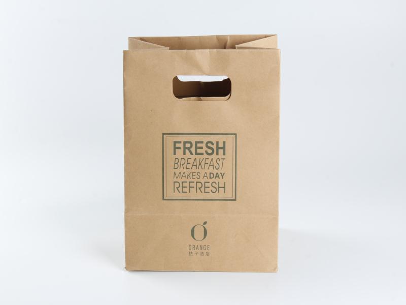 哪里有做牛皮纸袋的_口碑好的厂家直销牛皮纸袋外卖打包袋可定制logo哪里有供应