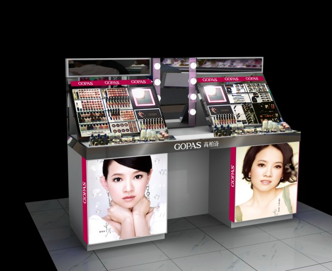 化妆品展柜-大量供应出售精良的化妆品陈列展示架