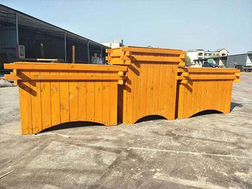 西安水泥花箱定做-榆林防腐木花箱生产厂家-榆林防腐木花箱制作