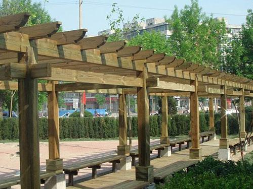 陕西仿木长廊批发-榆林仿木长廊定做-榆林仿木长廊价格
