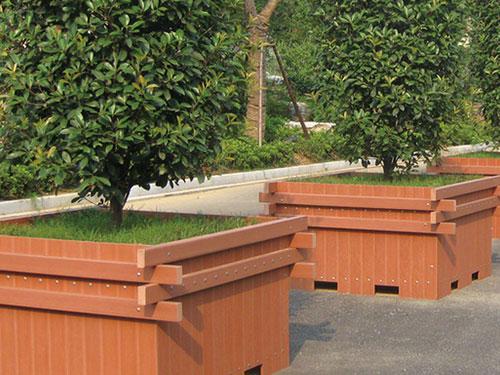 塑木花盆生产厂家-西安塑木花盆批发-西安塑木花盆定制