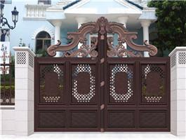 农村别墅庭院小门设计安装-物超所值的新式铝艺门顺正金属供应