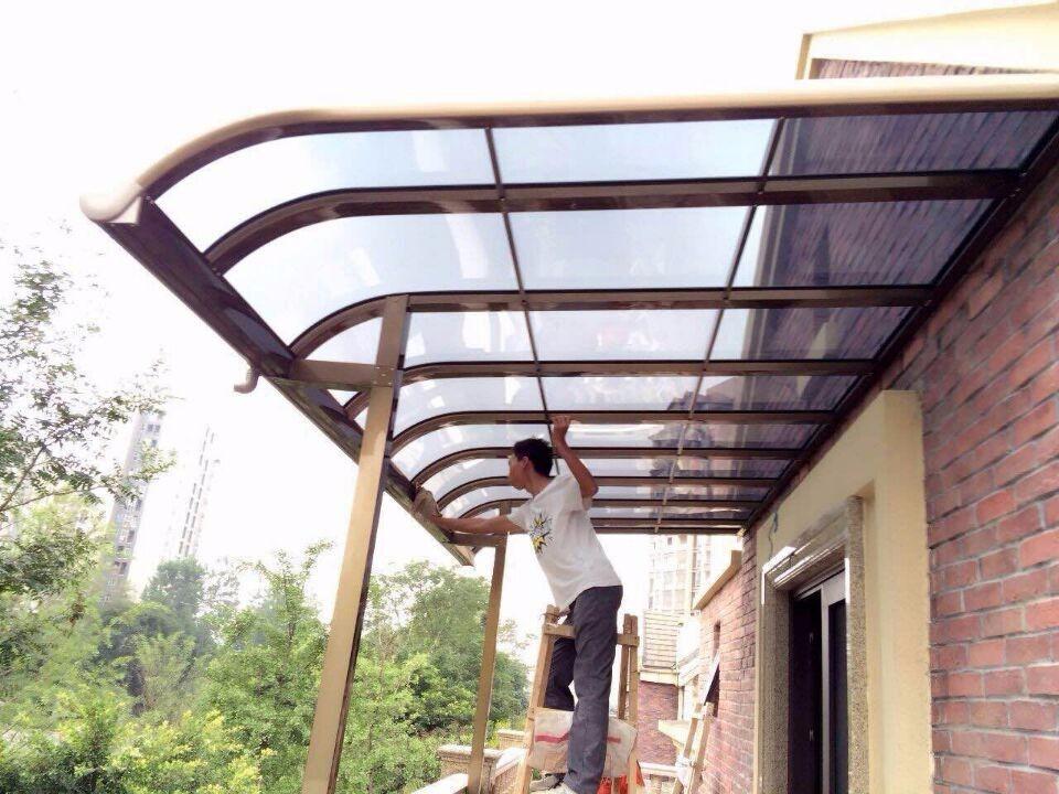 鋁合金車棚設計加工-地下車庫出口雨棚廠家