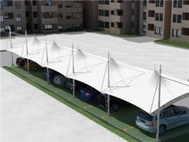 車庫膜結構公司-江西遮陽汽車棚-河北遮陽汽車棚