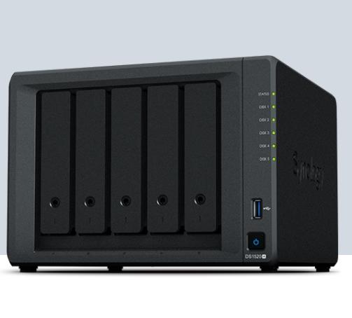 群晖NAS存储服务器DS1520+ 5盘位 数据资料备份存储