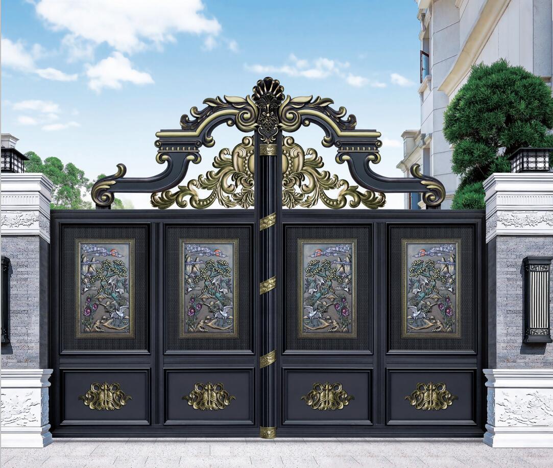 铝艺大门�定制-黑龙江铝合金大只能由朱俊州一个人来支撑了门-吉林铝合金大门