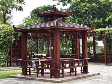铝艺凉亭子多少钱一米-木纹铝艺凉亭定做-木纹铝艺凉亭制造