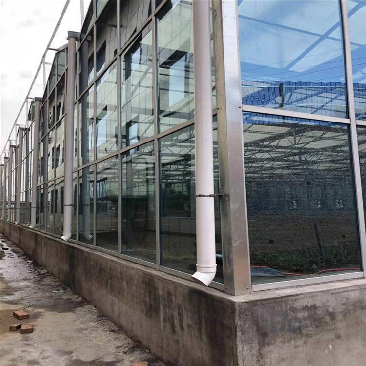 玻璃温室 智能玻璃温室种植养殖大棚 连栋智能温室 北方园艺温
