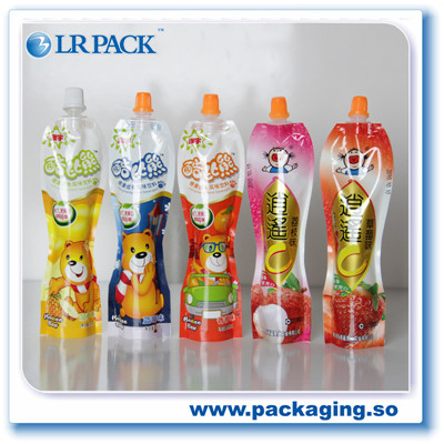 自立吸嘴袋果汁果冻吸嘴包装袋镀铝密封彩印洗衣液包装袋