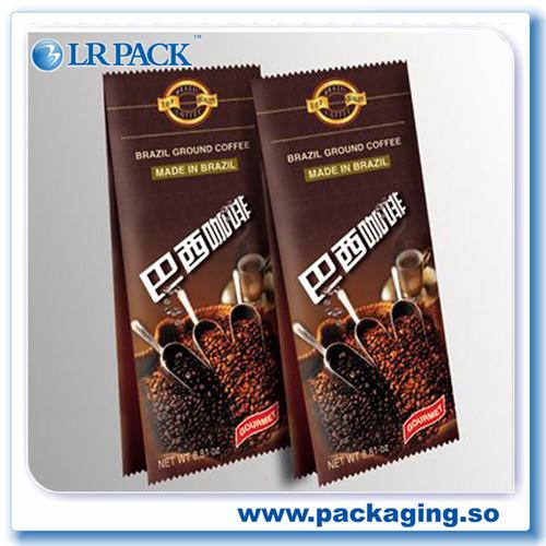 咖啡豆气阀包装袋八边封食品包装袋印刷侧拉链
