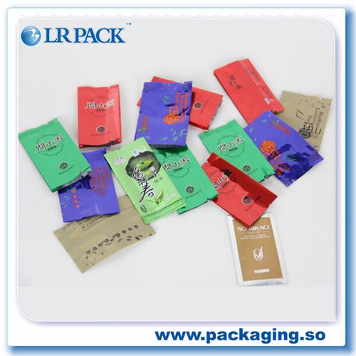 广州供应铝箔茶叶袋被封中封磨砂风琴袋真空侧边封铝箔镀铝茶叶袋