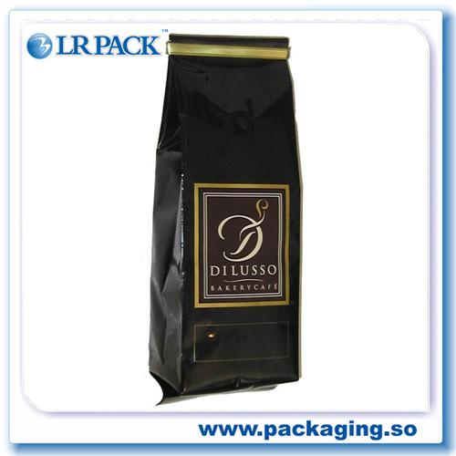八边封袋平底袋自立袋带气阀咖啡豆包装袋茶袋咖啡袋