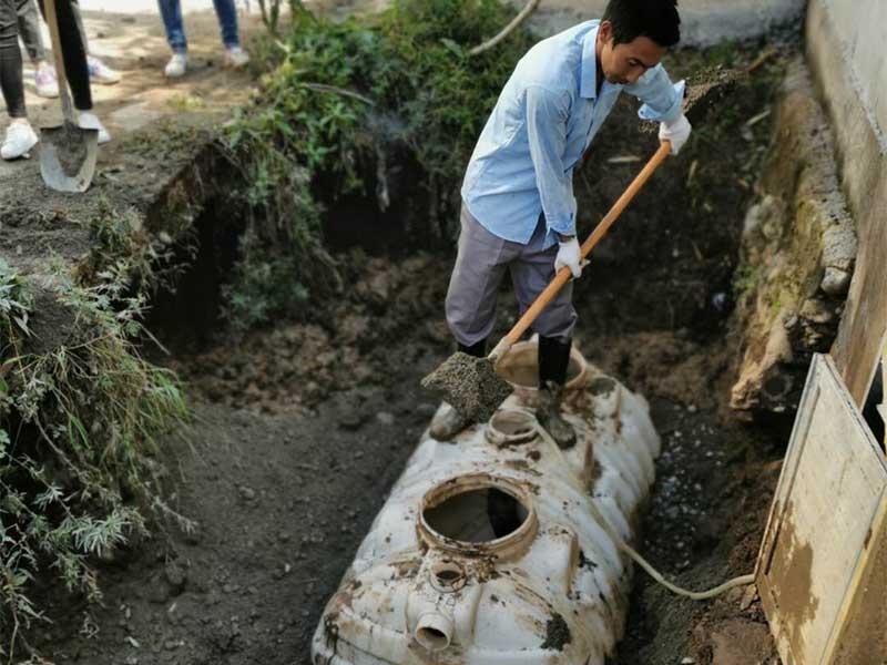 农村旱厕改造