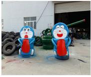 动物绿雕厂家-精雕细琢的轮胎创意小品供应