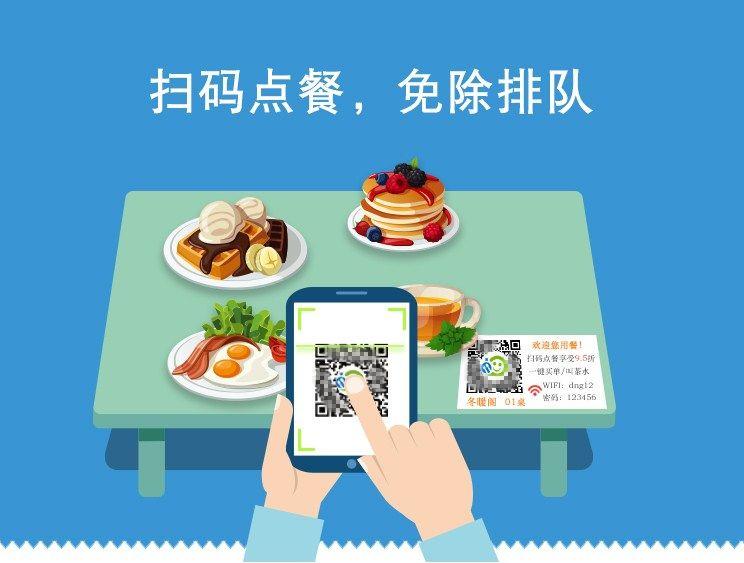 微信扫码点餐公众号、小程序,桌面一个二维码扫码直接点餐