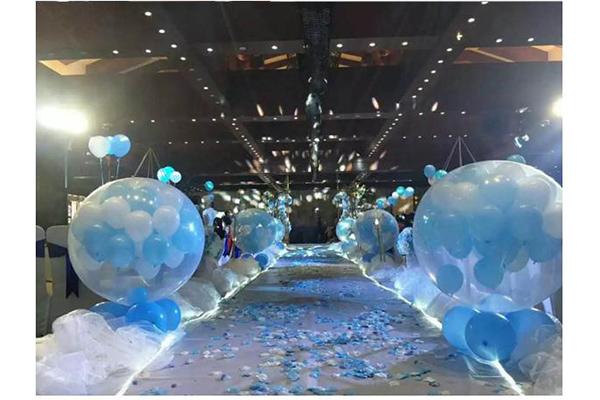 户外婚礼活动策划-青岛逗儿乐彩球供应优良的百天家庭布置