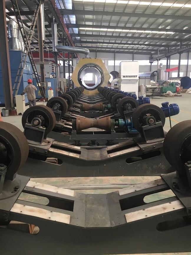 钢管抛丸除锈设备,钢管外壁抛丸除锈机,青岛华特防腐保温设备