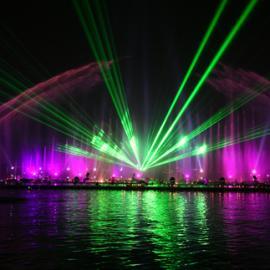 噴泉激光燈