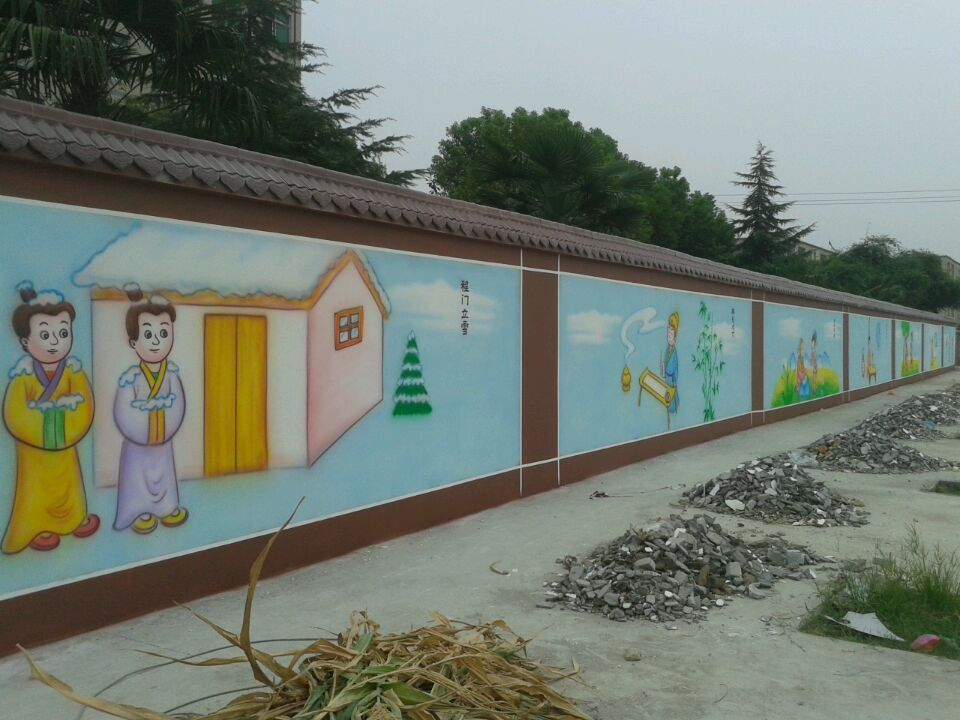 常熟小學音樂室噴畫-蘇州市高質量的小學圍墻噴畫
