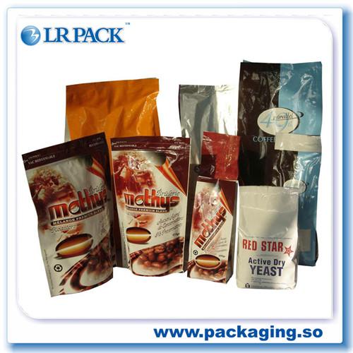 鍍鋁自立自封袋咖啡氣閥袋鋁箔咖啡袋帶排氣閥食品包裝袋