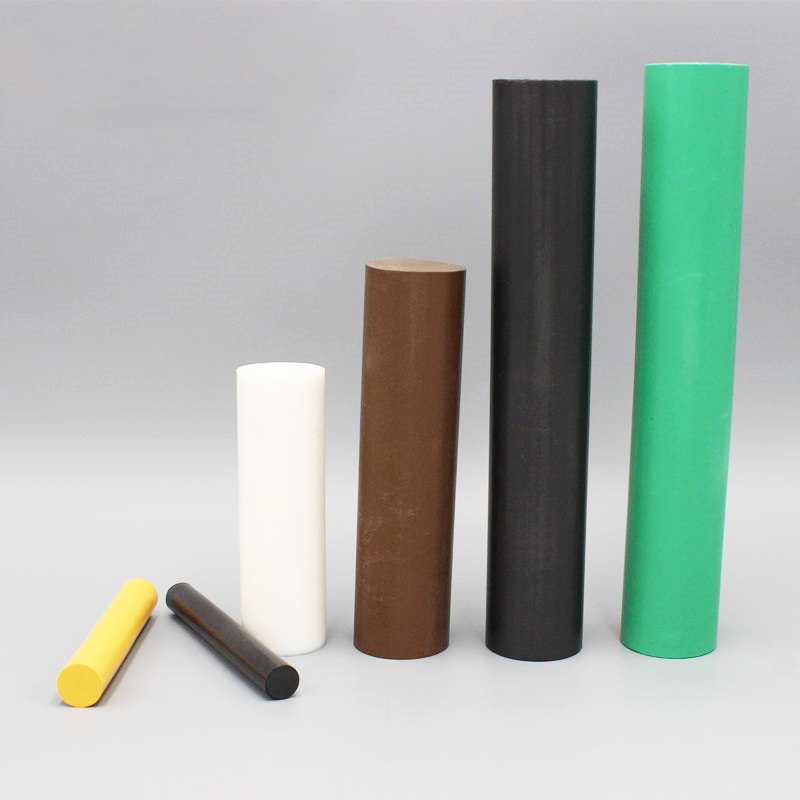 圆形玻纤PTFE棒 模压改性填充石墨铁氟龙棒批发