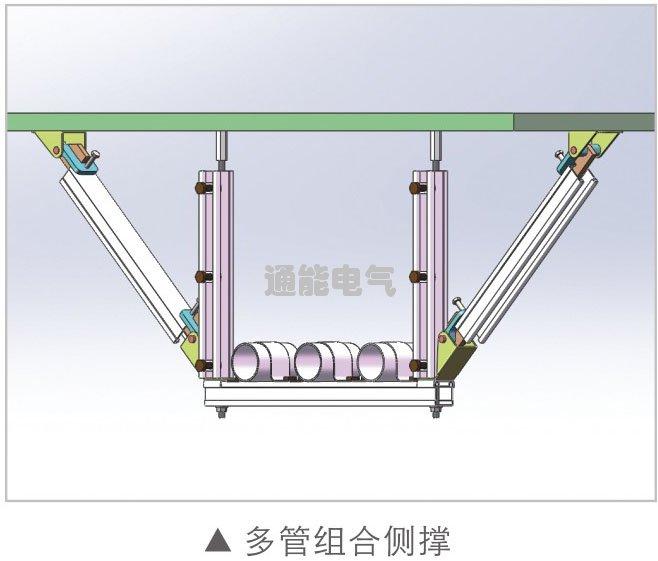 通能科技抗震支架多管组合侧撑厂家产品价格报价询价电话