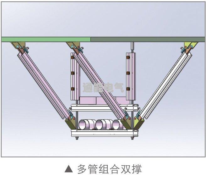 通能科技抗震支架多管组合双撑厂家产品价格报价询价电话