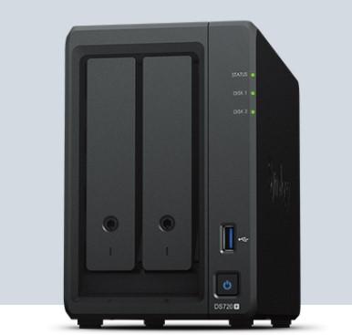 ¥群晖NAS存储办事器DS720+ 2盘位数据备份存储