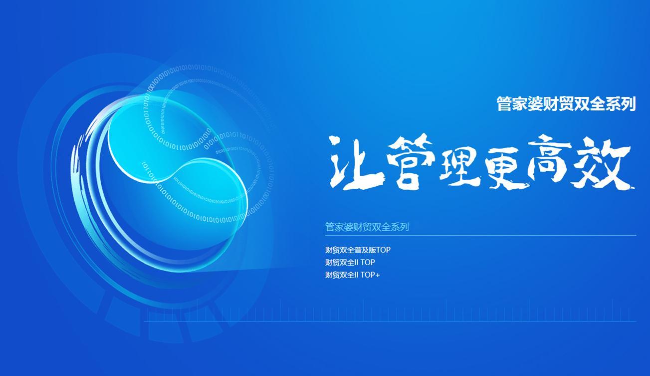 管家婆财贸双全系列企业管理软件