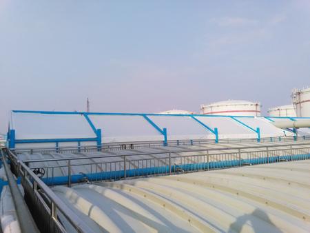 污水池防臭加盖公司-油气池膜结构加盖报价
