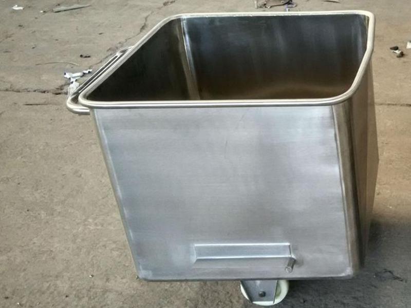肉料车生产厂家-不锈钢桶车报价-不锈钢桶车多少钱