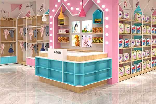 便利店超市收银台母婴店铺前台药店柜台转角小型简约现代吧台