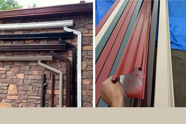 彩铝落水管,彩铝落水管安装,彩铝落水管价格