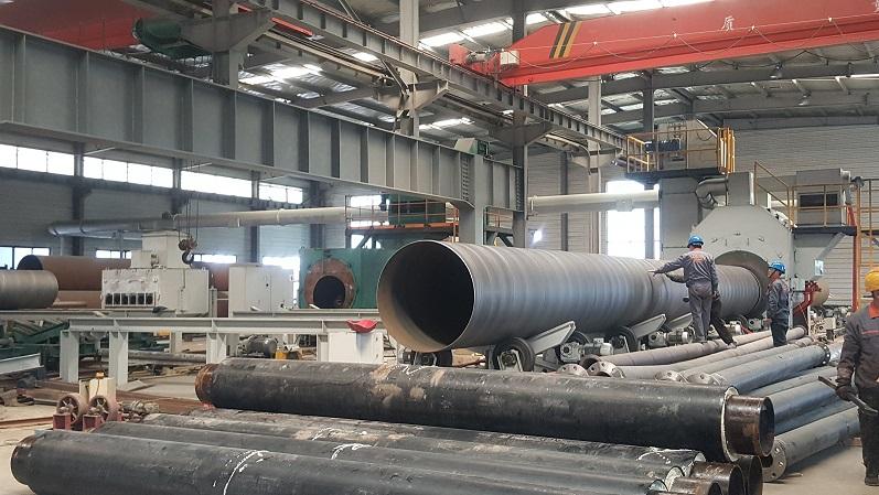 钢管除锈机,钢管外壁除锈设备,青岛华特防腐保温设备有限公司