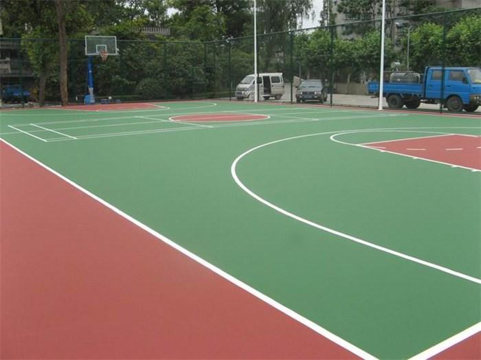 彭阳县硅PU篮球场材料单价,硅pu球场地坪漆订制