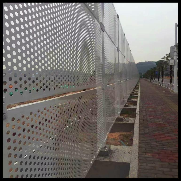 2.5米高白色围挡_有信誉度的隔离市政工地施工抑尘双层金属板冲孔围挡厂倾情推荐