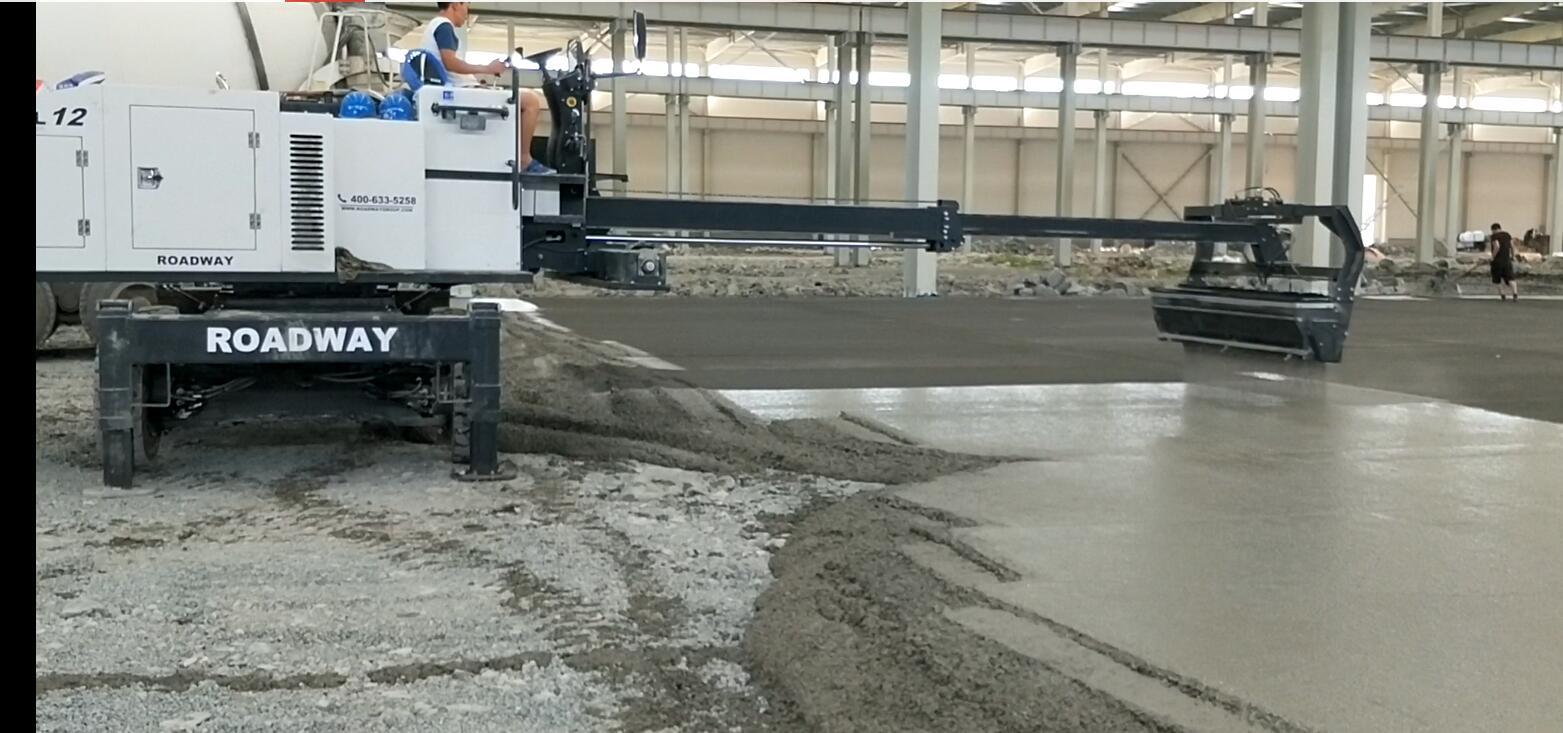 伸缩臂撒料机 路得威金刚砂撒料机 耐磨地坪撒料机