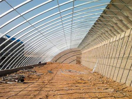 東營鋼架日光溫室建設