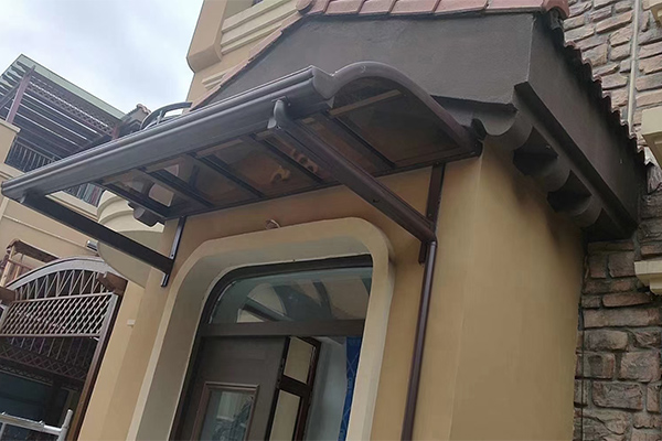 寿光灰色板雨棚制造