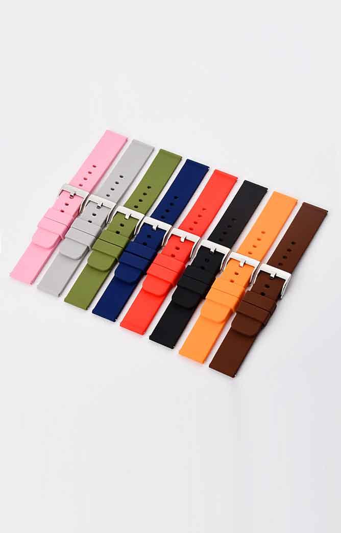 现货定制批发手表配件腕带快拆生耳防水橡胶智能手表表带硅胶表带