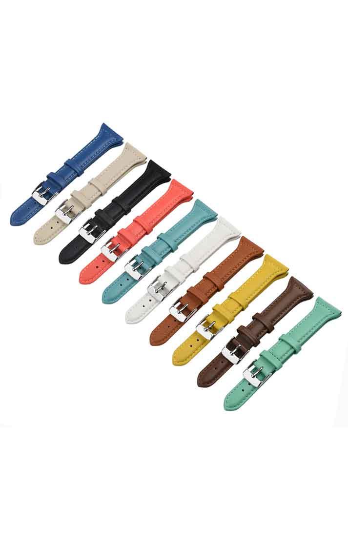 可定制手表配件复古平纹平头牛皮表带皮革防水透气耐磨牛皮手表带