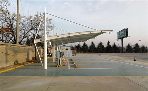 漯河钢膜结构停车棚价格