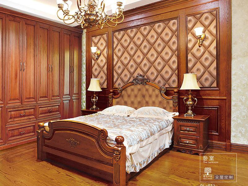 中式屏风隔断柜-菠萝格实木门-成品实木门